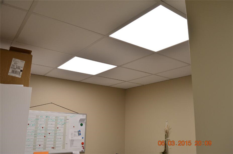 8. recessed led panel installation example